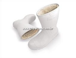 4ee517ffaea0d bota pvc forrada com la vulcabras. bota branca com forro de lã para câmara  fria bompel